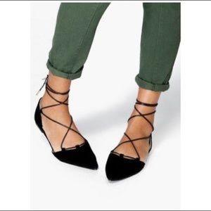 Zara lace up flats size 37/ US 6.5